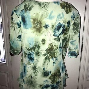 Dress Barn Tops - Floral wrap blouse - size 16w